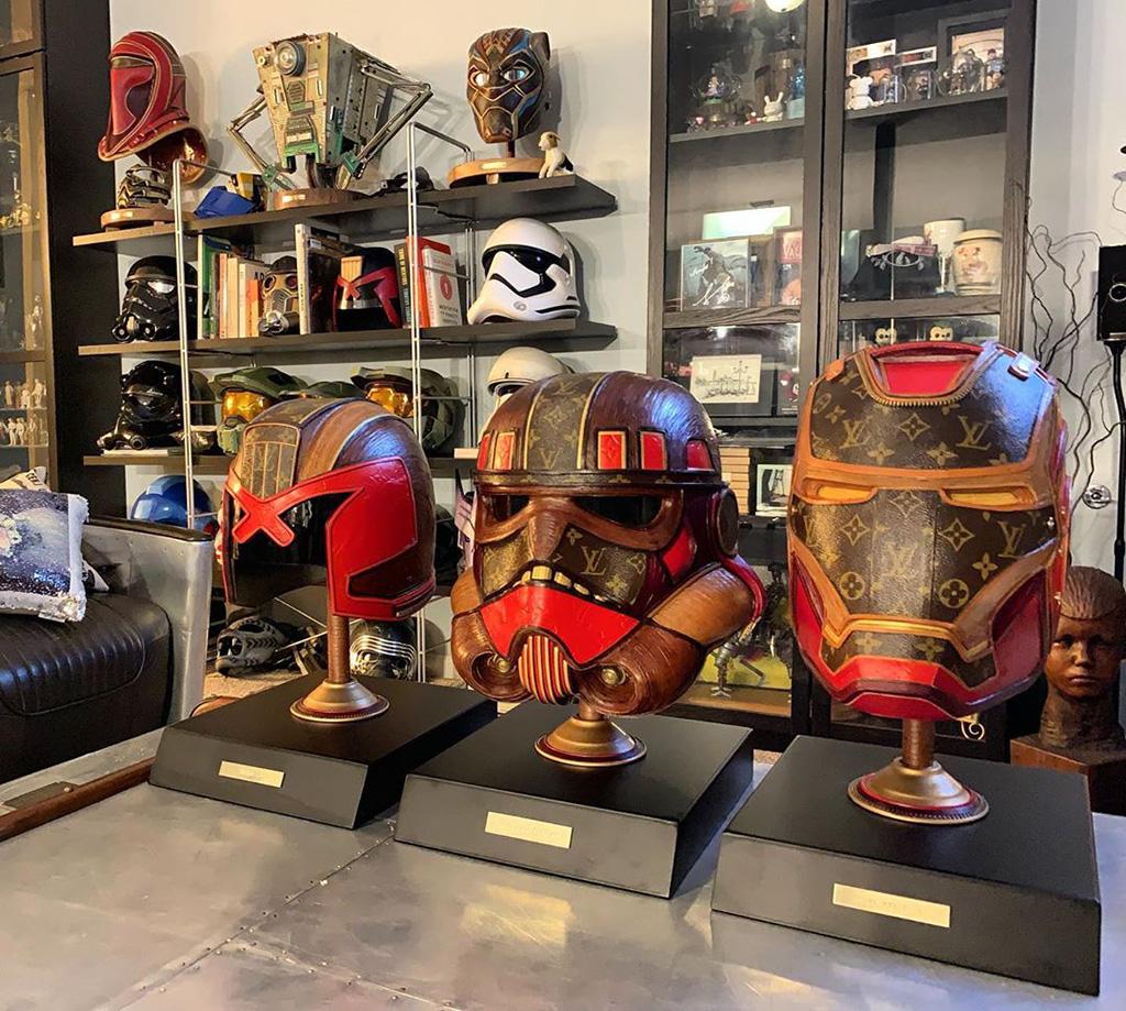 Шлемы Габриэль Дишоу из сумок Louis Vuitton