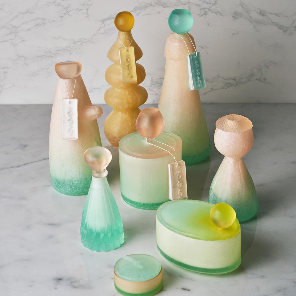 упаковка из мыла, мыло,бутылки и банки из мыла,Ми Чжоу