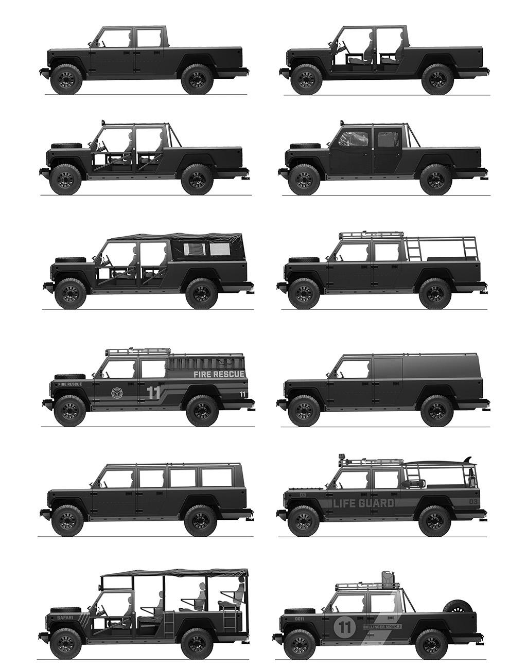 Bollinger, грузовик, пикап