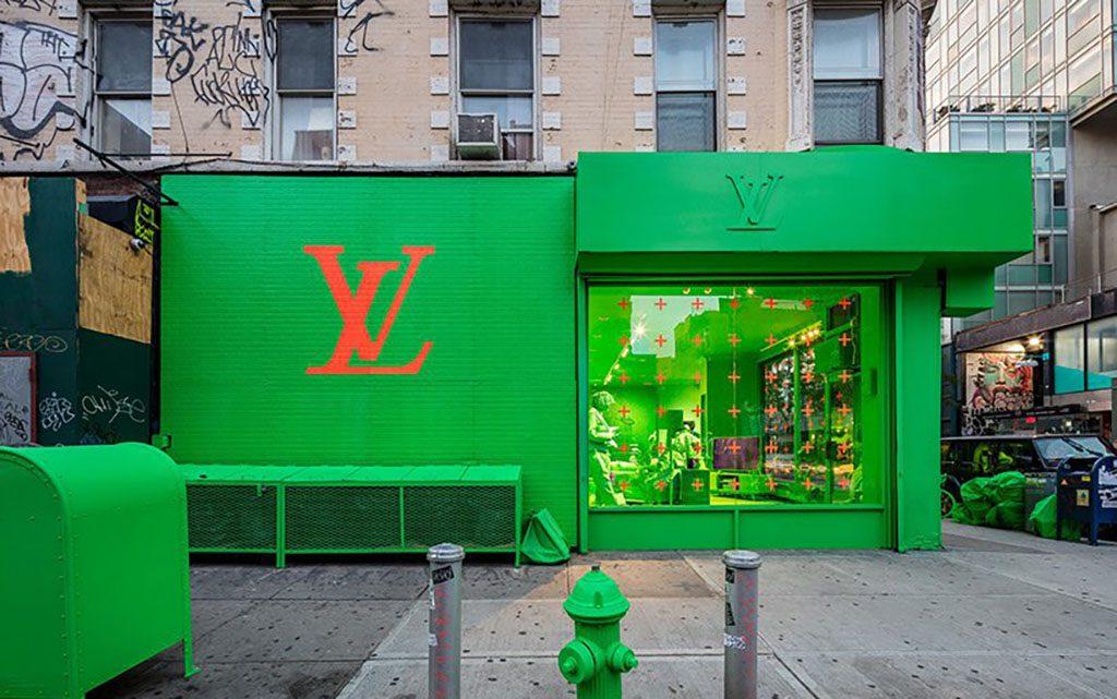 Зеленый, Louis Vuitton, Нью-Йорк