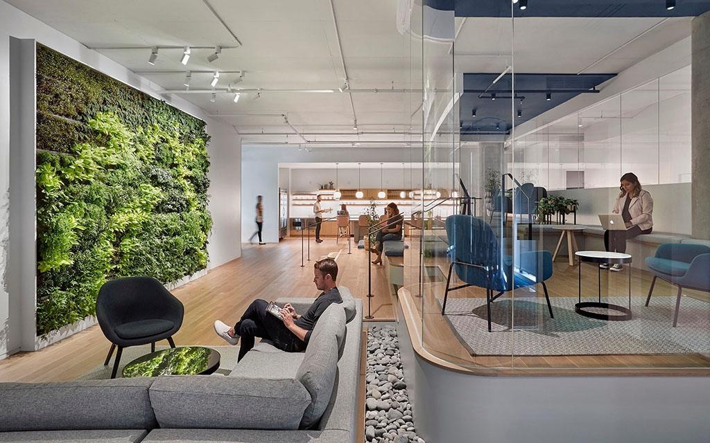 Интерьер, офис, штаб-квартира, Slack