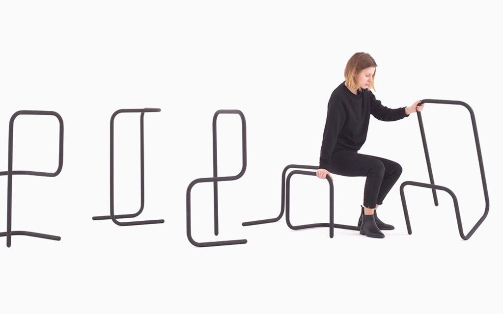 Furnitype, мебель, буквы