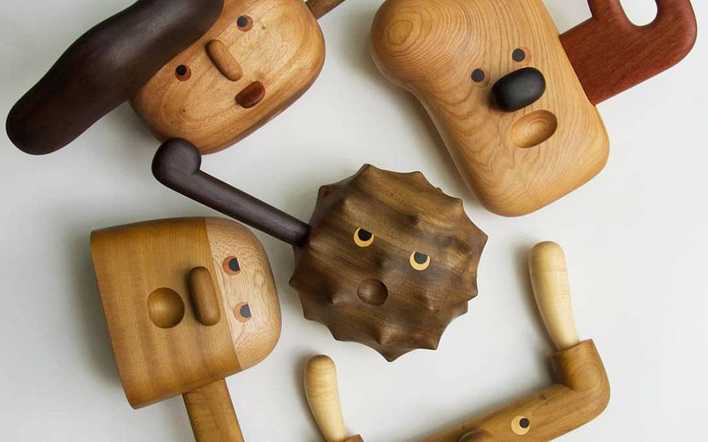скульптуры ручной работы, Юй-Лин Йен, дерево