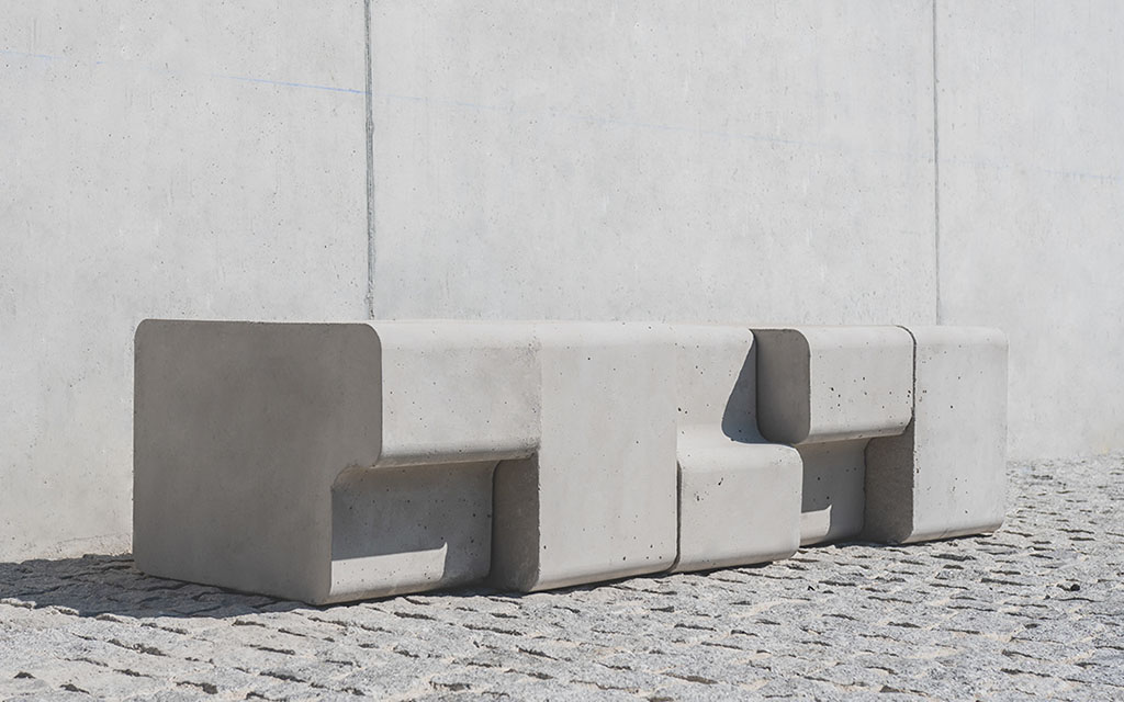 Скамья из бетона. Bruto, 812 Creative Design